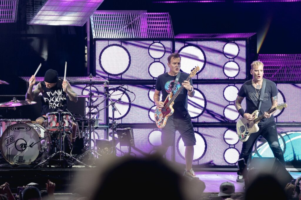 Blink-182 performs at Ak-Chin Pavilion in Phoenix, AZ on August 5, 2019.