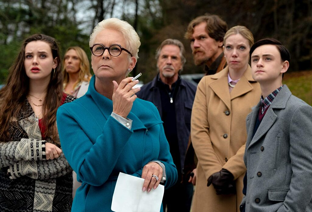 Jamie Lee Curtis, Michael Shannon and Toni Colette in Knives Out