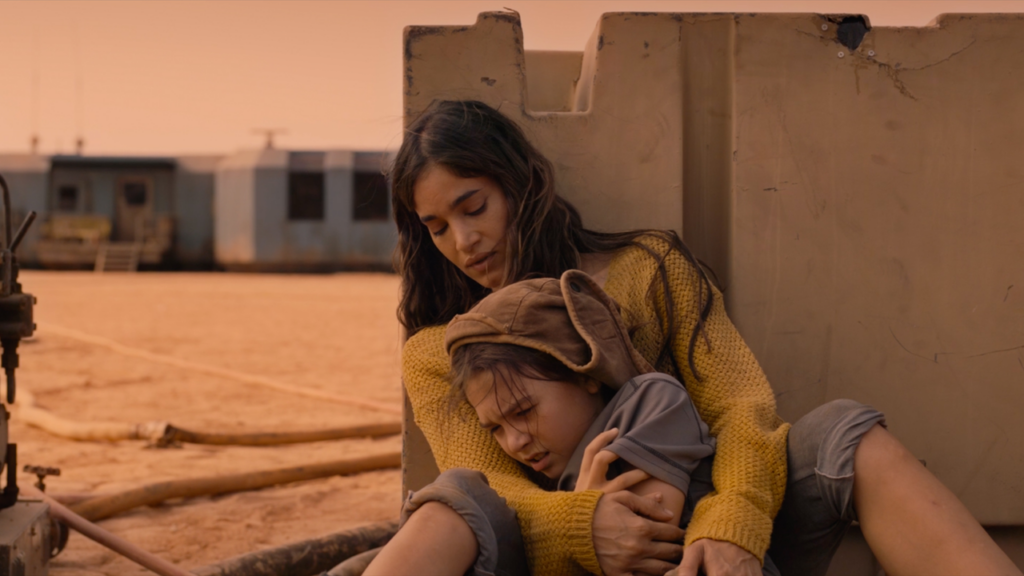 Sofia Boutella and Brooklynn Prince in Settlers at the 2021 Tribeca Film Festival